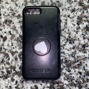 Symmetry Otterbox Black iPhone 7 Plus Popsocket